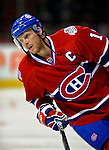 11 November 2008: Montreal Canadiens' center and Team Captain Saku Koivu from Finland warms up prior to facing the Ottawa Senators at the Bell Centre, in Montreal, Quebec, Canada. The Canadiens shut out the Senators 4-0 as the Habs celebrate their 100th Season...Mandatory Photo Credit: Ed Wolfstein Photo *** Editorial Sales through Icon Sports Media *** www.iconsportsmedia.com