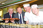 LABOUR: The Labour party leader Eamon Gilmore with north Kerry candidate Arthur Spring with bakers Donal Barry and Michael O'Leary at Der O'Sullivan delicatessen, Tralee on Friday.