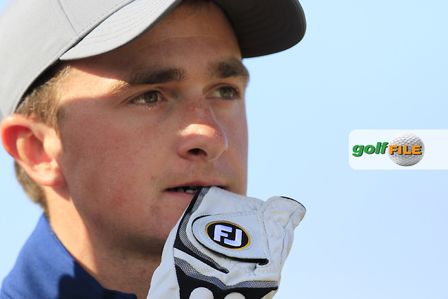 Paul DUNNE (AM)(IRL) waits to tee off the 16th tee during Sunday's Round 3 of the 144th Open Championship, St Andrews Old Course, St Andrews, Fife, Scotland. 19/07/2015.<br /> Picture Eoin Clarke, www.golffile.ie