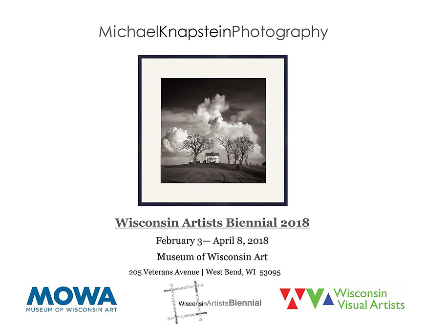 "Michael Knapstein's photograph ""After the Storm"" was selected for the Wisconsin Artists Biennial 2018 exhibition at the Museum of Wisconsin Art in West Bend, Wisconsin. Only 42 artists were chosen for the exhibition."