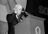 Quebec Premier Rene Levesque attend the Parti Quebecois convention, June 8, 1984