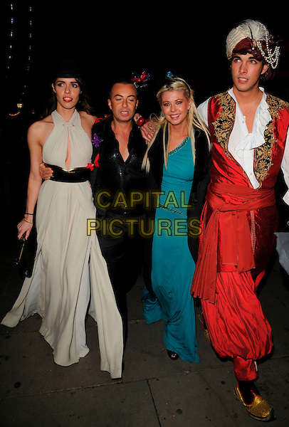 JULIEN MACDONALD, TARA REID & GUESTS.Attend Andy & Patti  Wong's Chinese New Year Party, County Hall, Westminster Bridge Road,.London, England, 26th January 2008..full length black shirt green dress costumes .CAP/CAN.©Can Nguyen/Capital Pictures