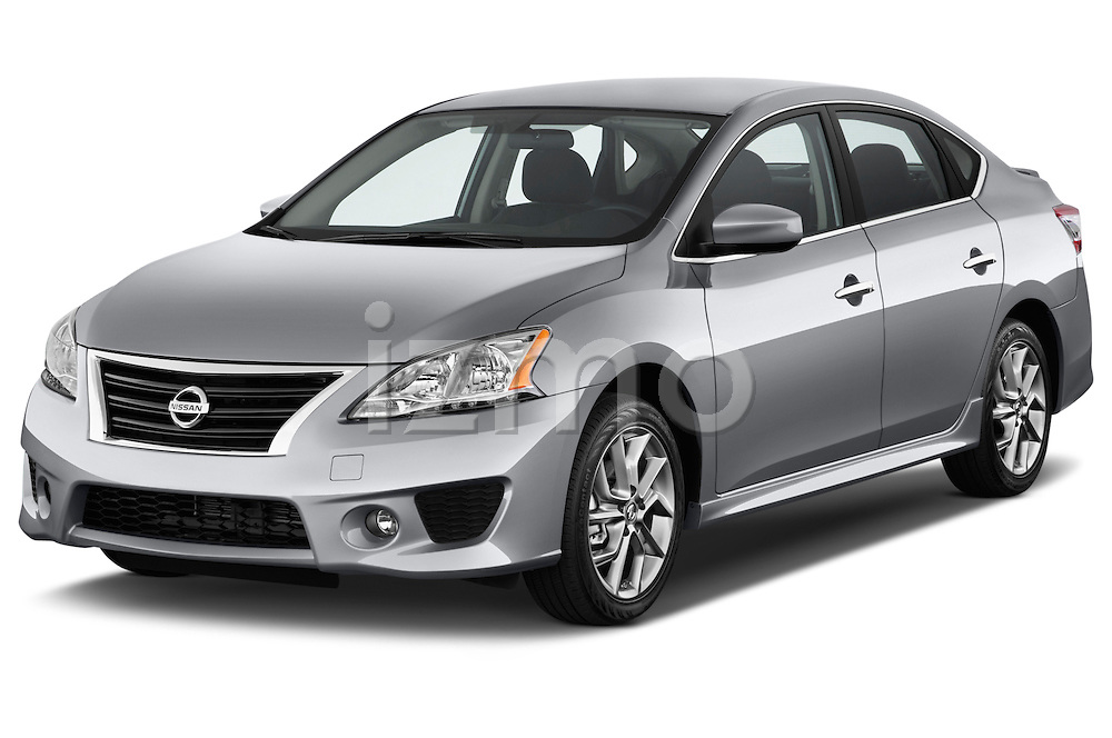 Front three quarter view of a .2013 Nissan Sentra SR