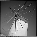 July 1996 -- Mykonos, Greek Islands -- A Greek windmill..Andrew Kaufman©1996