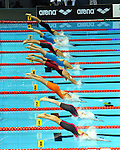 19.08.2014, Velodrom, Berlin, GER, Berlin, Schwimm-EM 2014, im Bild Start, 100m Breaststroke - Women, <br /> <br />               <br /> Foto © nordphoto /  Engler