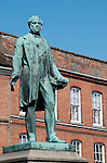 Statue of Lord Palmerston in Market Place, Romsey, Hampshire, England