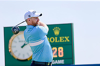 Stephen Gallacher (SCO) on the 1st during the 1st round of the 2017 Portugal Masters, Dom Pedro Victoria Golf Course, Vilamoura, Portugal. 21/09/2017<br /> Picture: Fran Caffrey / Golffile<br /> <br /> All photo usage must carry mandatory copyright credit (&copy; Golffile | Fran Caffrey)