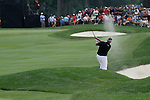 Darren Clarke (NIR) playing his tee shot out of the bunker on the 1st hole on day 1of the World Golf Championship Bridgestone Invitational, from Firestone Country Club, Akron, Ohio. 4/8/11.Picture Fran Caffrey www.golffile.ie