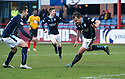 Dundee's Paul McGowan (18) celebrates after he scores their late winning goal.