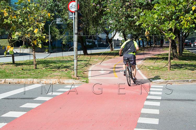 Ciclovia na Avenida Faria Lima, São Paulo - SP, 07/2016.