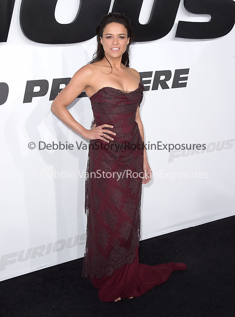 Michelle Rodriguez attends The Universal Pictures World Premiere of Furious 7 held at The TCL Chinese Theatre IMAX Theater  in Hollywood, California on April 01,2015                                                                               © 2015 Hollywood Press Agency