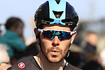Luke Rowe (WAL) Team Sky waits for the start of Gent-Wevelgem in Flanders Fields 2017, running 249km from Denieze to Wevelgem, Flanders, Belgium. 26th March 2017.<br /> Picture: Eoin Clarke | Cyclefile<br /> <br /> <br /> All photos usage must carry mandatory copyright credit (&copy; Cyclefile | Eoin Clarke)