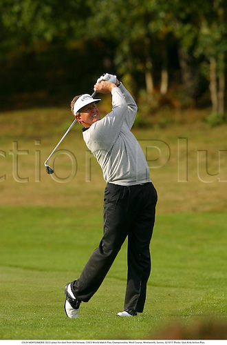 COLIN MONTGOMERIE (SCO) plays his shot from the fairway, CISCO World Match Play Championship, West Course, Wentworth, Surrey, 021017. Photo: Glyn Kirk/Action Plus....2002.golf golfing golfer golfers