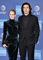 PALM SPRINGS, CA - JANUARY 03: Joanne Tucker (L) and Adam Driver attend the 30th Annual Palm Springs International Film Festival Film Awards Gala at Palm Springs Convention Center on January 3, 2019 in Palm Springs, California.<br /> CAP/ROT/TM<br /> ©TM/ROT/Capital Pictures