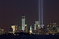 New York City and the 'Tribute In Light' marking the twelfth anniversary of the terrorist attacks at the World Trade Center in New York September 10, 2013 by Kena Betancur / VIEWpress