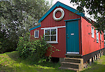 Small wooden holiday home house cabin, Walberswick, Suffolk, England