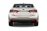 Straight rear view of 2016 Toyota Avalon XLE Premium 4 Door Sedan Rear View  stock images