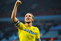 Leeds United's Luke Ayling celebrates with fans after the match<br /> <br /> Photographer Alex Dodd/CameraSport<br /> <br /> The EFL Sky Bet Championship - Aston Villa v Leeds United - Sunday 23rd December 2018 - Villa Park - Birmingham<br /> <br /> World Copyright &copy; 2018 CameraSport. All rights reserved. 43 Linden Ave. Countesthorpe. Leicester. England. LE8 5PG - Tel: +44 (0) 116 277 4147 - admin@camerasport.com - www.camerasport.com