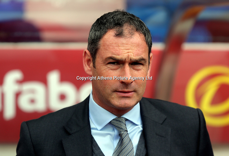 Swansea manager Paul Clement on the touch line during to the Premier League match between Sunderland and Swansea City at the Stadium of Light, Sunderland, England, UK. Saturday 13 May 2017