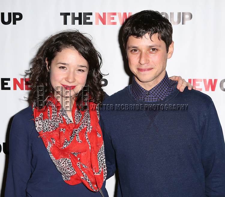 Sarah Steele and Raviv Ullman attends the Opening Night party for the New Group's production of 'Intimacy' at Rosebud Lounge on January 29, 2014 in New York City.