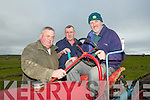 VINTAGE: Given Joe Mc carthy a hand ion the Causeway ploughing championships on Paul Thornton land Castleshannon, Causeway on Sunday L-r:m Tom Horgan (Castleisland), John and Joe McCarthy(Ballyheigue)................................. .. .............................................................. ....................