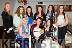 Rachel Stack from Ballyheigue celebrating her 16th birthday with friends on Saturday night at  La Scala's Front l-r Clodagh O'Hara, Rachel Stack and Elaine Murphy. Back l-r Sophie Barrett, Eibhlís Beirne, Chantelle Kenny, Shauna Dineen Higgins, Katie Kearney and Emma O'Connell.