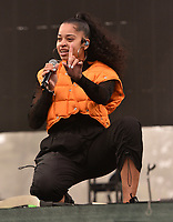 SAN FRANCISCO, CALIFORNIA - AUGUST 10: Ella Mai performs onstage during the 2019 Outside Lands Music And Arts Festival at Golden Gate Park on August 10, 2019 in San Francisco, California. <br /> CAP/MPI/IS<br /> ©IS/MPI/Capital Pictures