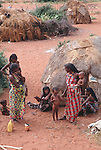 Somali refugees  and temporary accomodation , Wajir, Somaliland, Kenya