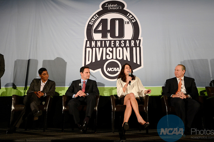 16 JAN 2014:  The Division II 40th Anniversary Celebration takes place during the 2014 NCAA Convention in San Diego, CA.  Jamie Schwaberow/NCAA Photos (Pictured:  Donna Orender)
