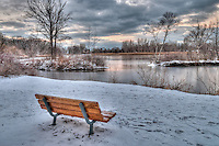 GLENN OGILVIE  Photography.Bud Cullen bench at Canatara ParkCanatara Park including Bud Cullen Bench, Lake Huron, winter scenes, beach, fall and traffic.