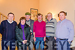 GATHERING AT COOM: Pictured at the Top of Coom Men's Group get together are Batt Sugrue (Ballinskelligs), Margaret Curran (Caherciveen), Patrick Casey (Ballinskelligs), Cornelius O'Sullivan (Ballinskelligs), Denis Teahan (Cromane) and Paddy Casey (South Kerry Development Partnership).