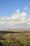 Israel, Shephelah, Crusader fortress Castellum Arnoldi on Tel Ayalon overlooking Ayalon valley