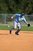 December 30, 2009:  Coty Jutze (7) of the Baseball Factory Tar Heels team during the Pirate City Baseball Camp & Tournament at Pirate City in Bradenton, Florida.  (Copyright Mike Janes Photography)