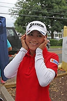 Sakura Yokomine (Japan) smiles after shooting a 61 for her final round during the ShopRite LPGA Classic presented by Acer, Seaview Bay Club, Galloway, New Jersey, USA. 6/10/18.<br /> Picture: Golffile | Brian Spurlock<br /> <br /> <br /> All photo usage must carry mandatory copyright credit (&copy; Golffile | Brian Spurlock)
