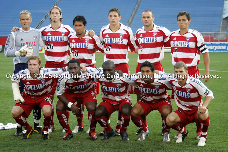 16 July 2005: FC Dallas's starting eleven. The New England Revolution defeated FC Dallas 3-2 at Gillette Stadium in Foxboro, Massachusetts in a Major League Soccer regular season match.