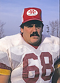 Washington Redskins guard Russ Grimm (68) poses for a photo after it was announced he and three other teammates were selected for the Pro Bowl at Old Redskins Park in Herndon, Virginia on December 13, 1984.<br /> Credit: Arnold Sachs / CNP