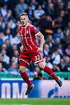 Joshua Kimmich of FC Bayern Munich celebrates his first goal for their team during the UEFA Champions League Semi-final 2nd leg match between Real Madrid and Bayern Munich at the Estadio Santiago Bernabeu on May 01 2018 in Madrid, Spain. Photo by Diego Souto / Power Sport Images