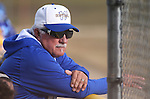 Wildcats Assistant Coach Lloyd Capra watches the action in the second game of a double header against Salt Lake Community College, at Edmonds Sports Complex in Carson City, Nev., on Fri., Feb. 14, 2014.<br /> Photo by Cathleen Allison/Nevada Photo Source