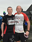 Fergal McGahey and Johnny McArdle who took part in the Noel Carroll 10k race at Annagassan. Photo:Colin Bell/pressphotos.ie