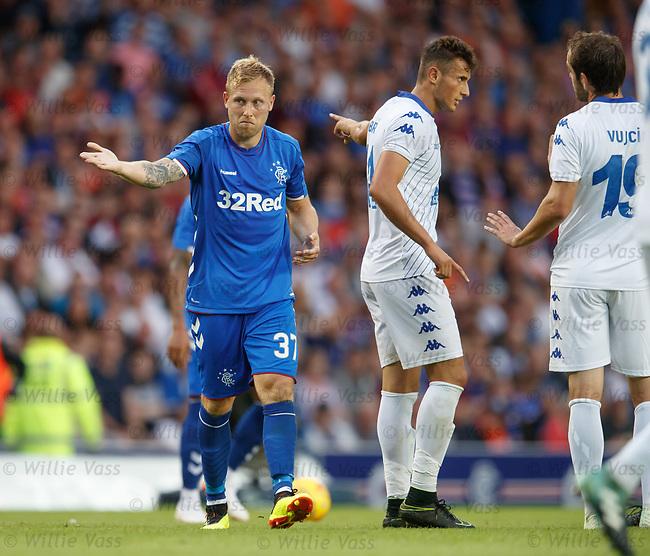 12.07.18 Rangers v FK Skhupi: Scott Arfield