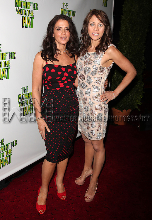 Annabella Sciorra & Elizabeth Rodriguez.attending the Broadway Opening Night Performance After Party for 'The Mother F**ker with the Hat'  in New York City.