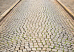Cobbled street in Maastricht, Limburg province, Netherlands,
