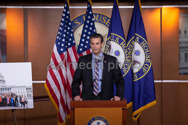 United States Representative John Sarbanes (Democrat of Maryland) speaks during a news conference with Speaker of the United States House of Representatives Nancy Pelosi (Democrat of California) regarding the vote by mail provision in the Heroes Act at the United States Capitol in Washington D.C., U.S. on Thursday, May 21, 2020. Credit: Stefani Reynolds / CNP/AdMedia