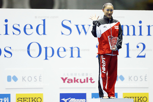 Yumi Adachi (JPN), MAY 4, 2012 - Synchronized Swimming : Yumi Adachi of Japan poses with her gold medal during the Japan Synchronised Swimming Championships Open 2012, solo free routine at Tatumi International pool in Tokyo, Japan. (Photo by Yusuke Nakanishi/AFLO SPORT) [1090]