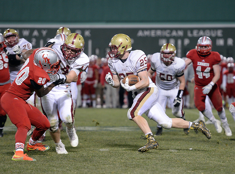 (Boston, MA, 11/25/15) Boston College High School takes on Catholic Memorial in the fourth quarter of a high school football game at Fenway Park in Boston on Wednesday, November 25, 2015. Photo by Christopher Evans