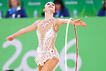 Kaho Minagawa (JPN), <br /> AUGUST 19, 2016 - Rhythmic Gymnastics : <br /> Individual All-Around Qualification Hoop   <br /> at Rio Olympic Arena <br /> during the Rio 2016 Olympic Games in Rio de Janeiro, Brazil. <br /> (Photo by Sho Tamura/AFLO SPORT)