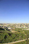 Israel, a view of Jerusalem from Mount Scopus