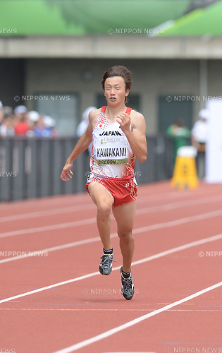 Takuya Kawakami (JPN),<br /> JULY 22, 2014 - Athletics :<br /> IAAF World Junior Championships Men's 100m Heats at Hayward Field in Eugene, Oregon, United States. (Photo by AFLO)