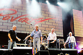 Pink Floyd - L-R: David Gilmour, Roger Waters, Nick Mason, Rick Wright -  reunited on stage together for the first time in 20 years performing live at the Live 8 concert in Hyde Park, London UK -  02 July 2005.   Photo credit: George Chin/IconicPix
