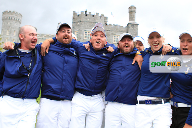 Europe win on the final day of  the Solheim Cup 2011 at Killeen Castle, Co. Meath, Ireland....Photo Golffile/Jenny Matthews.(Photo credit should read Jenny Matthews www.golffile.ie)....This Picture has been sent you under the conditions enclosed by:.Newsfile Ltd..The Studio,.Millmount Abbey,.Drogheda,.Co Meath..Ireland..Tel: +353(0)41-9871240.Fax: +353(0)41-9871260.GSM: +353(0)86-2500958.email: pictures@newsfile.ie.www.newsfile.ie.